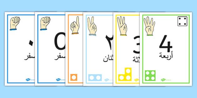 ملصقات بصرية لخط الأعداد 1-30