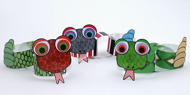 Paper Chain Snake Craft Crafts Design Animals Paper Craft