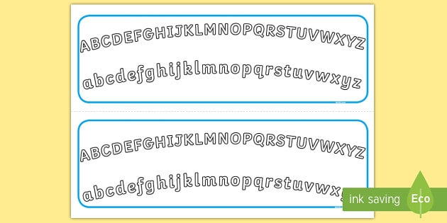 Plain Alphabet Arc Upper and Lower Case Alphabet Strips ...