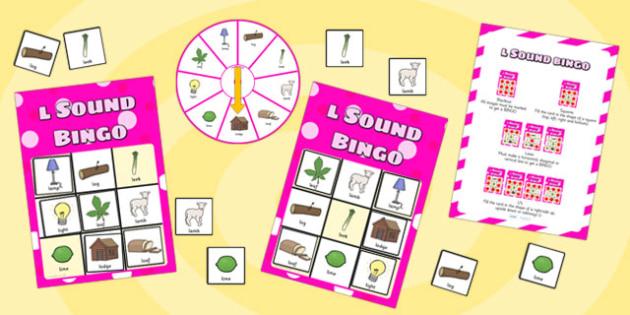 l Sound Bingo Game with Spinner - I, I sound, sounds, bingo, game