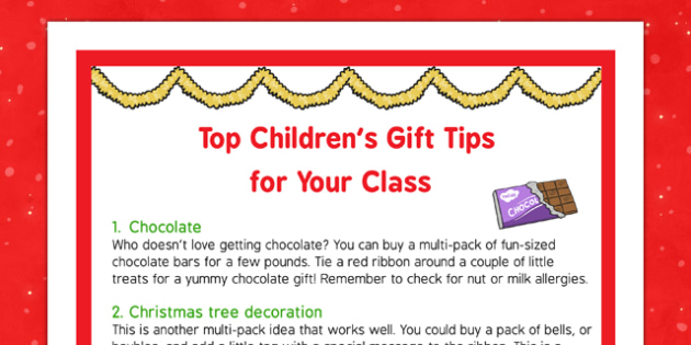 Top Children's Gift Tips for Your Class - top, children, gift, tips, class