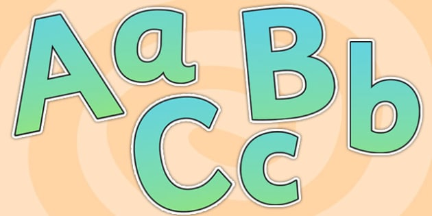 Turquoise Size Editable Display Lettering - turquoise, size editable, editable, display lettering, display, lettering, alphabet, lettering for display