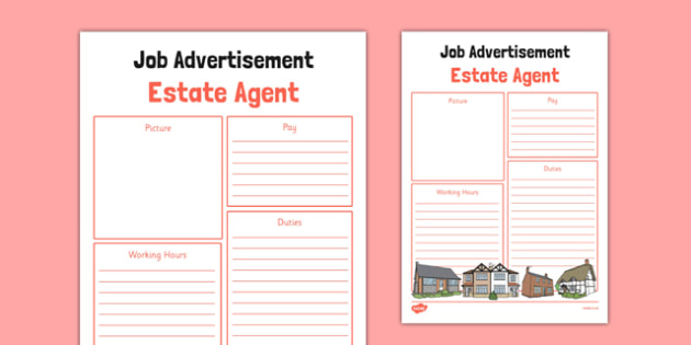 T-T-26122-Estate-Agent-Job-Advertit_ver_1 Job Advert Examples Ks on