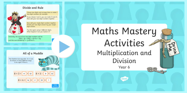 Maths Mastery Activities Year 6 Multiplication and Division