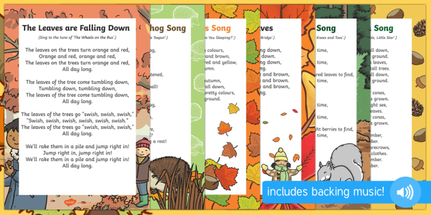 autumn themed rhymes and poems eyfs resource pack
