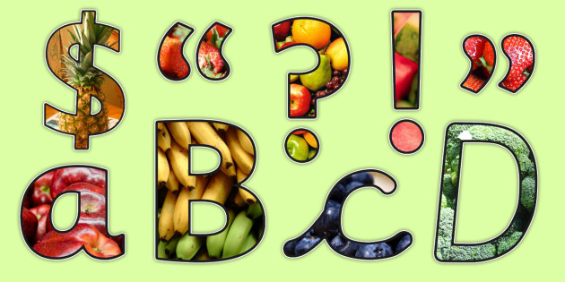 Healthy Eating Themed Photo Display Lettering - health, food