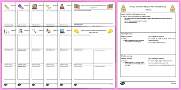 eyfs continuous provision adult support prompt sheet template