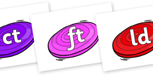 Final Letter Blends on Frisbees - Final Letters, final letter, letter blend, letter blends, consonant, consonants, digraph, trigraph, literacy, alphabet, letters, foundation stage literacy