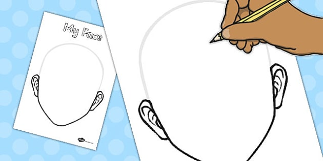 Blank Face Template - blank, face, template, blank face, outline