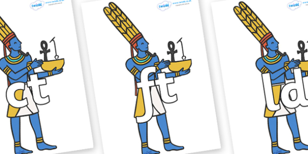 Final Letter Blends on Egyptians - Final Letters, final letter, letter blend, letter blends, consonant, consonants, digraph, trigraph, literacy, alphabet, letters, foundation stage literacy