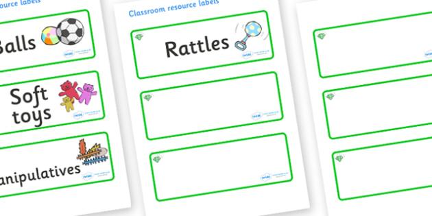 Emerald Themed Editable Additional Resource Labels - Themed Label template, Resource Label, Name Labels, Editable Labels, Drawer Labels, KS1 Labels, Foundation Labels, Foundation Stage Labels, Teaching Labels, Resource Labels, Tray Labels, Printable