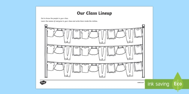 Back to School Clothesline Themed Activity Sheet - Back to School, worksheet, activity sheet, start of the year, first day, transition, getting to know