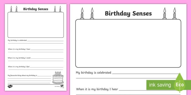 birthday celebrations senses worksheet worksheet past present how lives. Black Bedroom Furniture Sets. Home Design Ideas