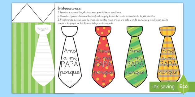 Manualidad: Felicitación de corbata - Día del Padre