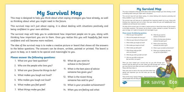 My Survival Map Worksheet