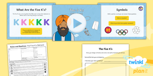 RE: Rules and Routine: The Five K's (Sikhism) Year 2 Lesson ...