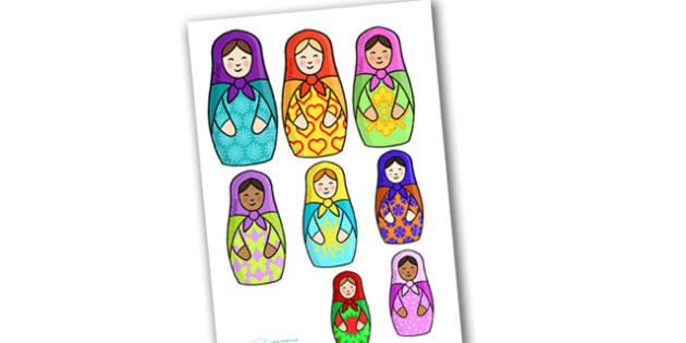 Russian Doll Size Ordering Activity - activity, game, fun, russian doll, dolls, size ordering, size recognition, size, put in order of size, fun activity, fun game, learning, play
