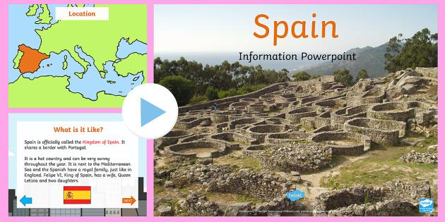 Spain Information PowerPoint - information, spain, powerpoint
