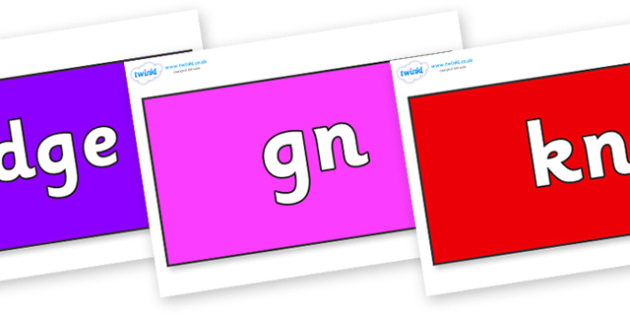 Silent Letters on Rectangles - Silent Letters, silent letter, letter blend, consonant, consonants, digraph, trigraph, A-Z letters, literacy, alphabet, letters, alternative sounds