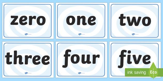 0 100 Number Words Display Posters - number display, math display