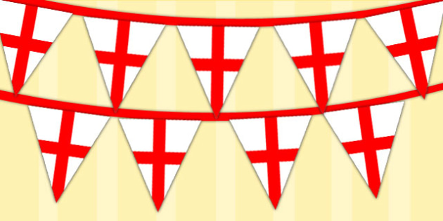 England Display Bunting - england, bunting, display bunting