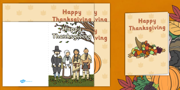 Thanksgiving Greetings Cards - gifts, greet, card, activity