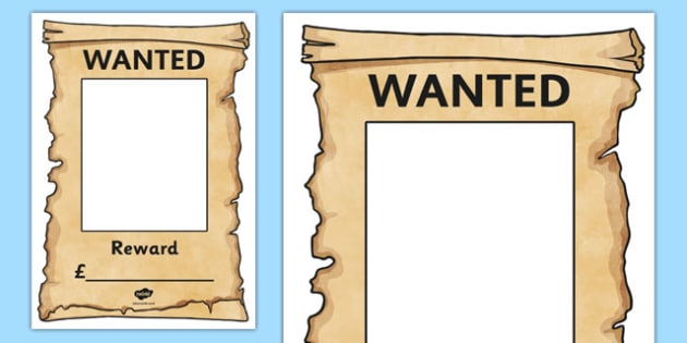 Wanted Poster  - Police Station Role Play, police, policeman, police station resources, policewoman, police car, police van, handcuffs, criminal, people who help us, role play, display, poster