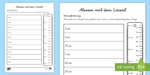 new messen mit dem lineal arbeitsblatt zentimeter l nge messen. Black Bedroom Furniture Sets. Home Design Ideas