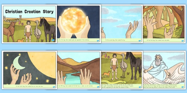 Christian Creation Story - usa, america, religion, RE, religious education
