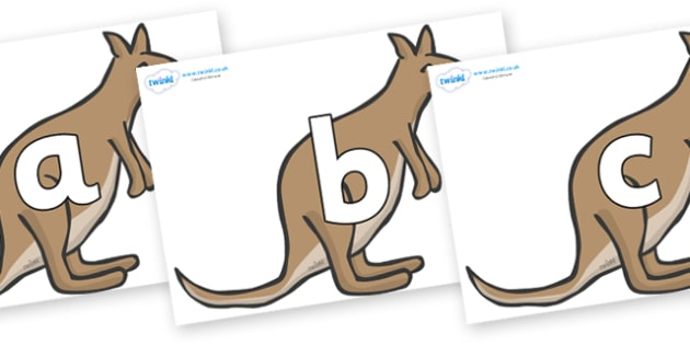 Phoneme Set on Kangaroos - Phoneme set, phonemes, phoneme, Letters and Sounds, DfES, display, Phase 1, Phase 2, Phase 3, Phase 5, Foundation, Literacy
