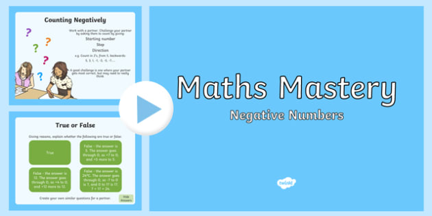 Year 5 Number and Place Value Negative Numbers Maths Mastery PowerPoint