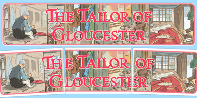 The Tailor of Gloucester Display Banner - tailor, gloucester