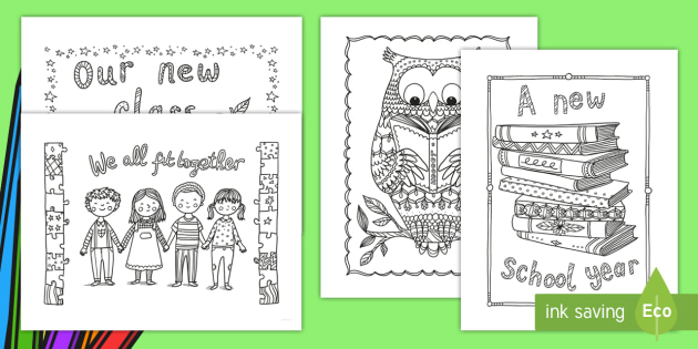 Back to School Mindfulness Coloring Sheets - morning work, coloring