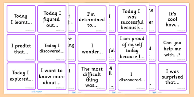 Reflective Thinking Cards - class management, think, reflect