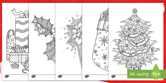 christmas colouring sheets twinkl