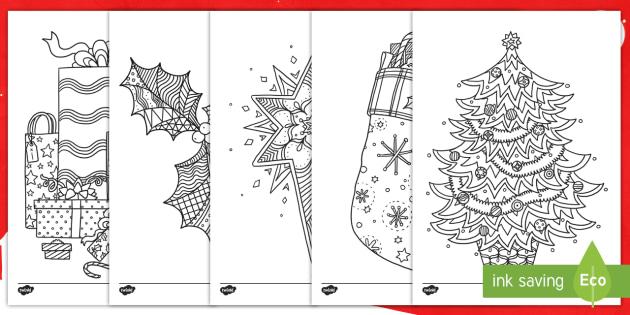 christmas colouring sheets twinkl