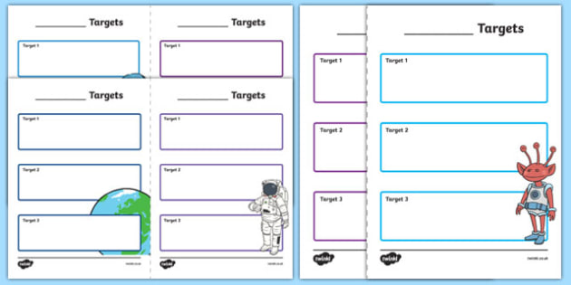Editable Pupil Space Themed Target Sheets - target, sheets, target sheets, editable, editable resource, editable target sheets, space, themed, space target sheets, editable space target sheet, your targets, my targets, pupil targets, aims, aim