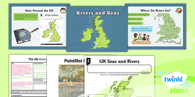 Geography: The UK: Rivers and Seas Year 3 Lesson Pack 2