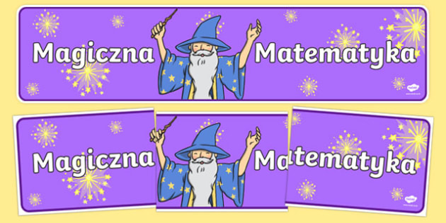 Banner na gazetk Magiczna Matematyka po polsku