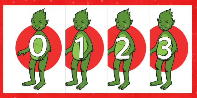 The Christmas Imp 0-30 Display Numbers - The Christmas Imp, the grinch, the grinch who stole christmas, christmas, green, imp, numbers, numbe