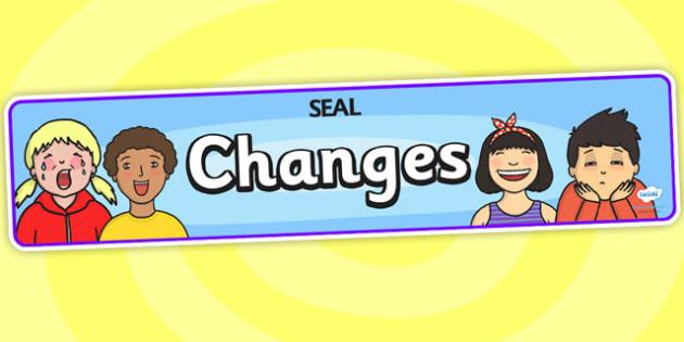 Changes Display Banner (SEAL) - SEAL, changes, display, poster, sign, banner, SEN, emotion, behaviour management, change, old, new, changing