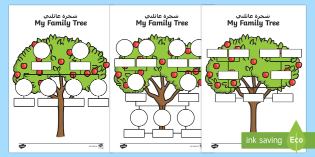 My Family Tree Worksheet Activity Sheet ArabicEnglish My – Family Tree Worksheet