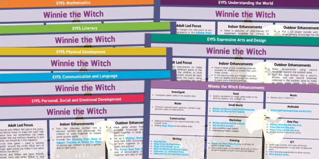 EYFS Lesson Plan and Enhancement Ideas to Support Teaching on Winnie the Witch - planning, Early Years, continuous provision, early years planning, adult led, Helen Nicoll, witch, magic, Halloween