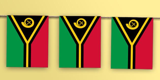 Vanuatu Flag Bunting - world, geography