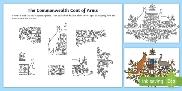 Commonwealth Coat Of Arms Cutting Skills Worksheet Worksheet