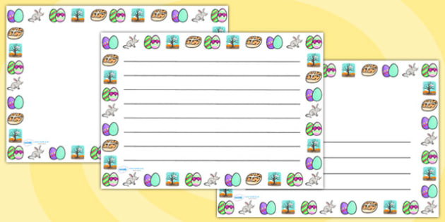 Easter Handwriting Lines Landscape - easter, hand writing, write