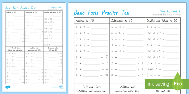 Number Knowledge Stage 4 Practice Test - stage 4 maths, basic