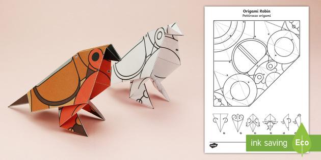 Fabulous Simple Origami Robin Winter Christmas Paper Craft Wiring 101 Mecadwellnesstrialsorg