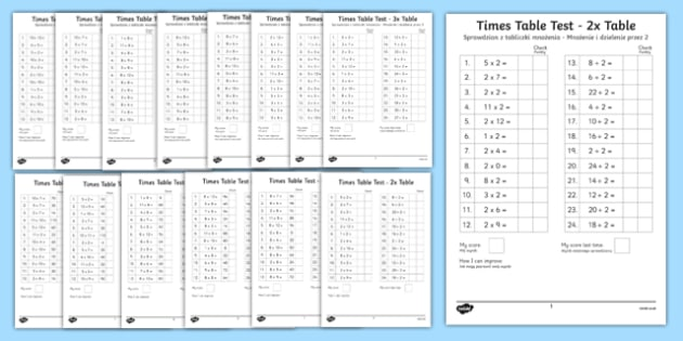 Mixed Multiplication and Division Tests Up to 12x Tables Polish Translation - polish, mixed, multiplication, division, tests