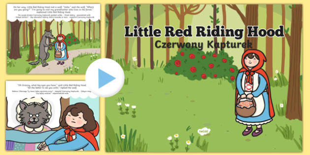 Little Red Riding Hood Story PowerPoint Polish Translation - polish, powerpoint, power point, interactive, little red riding hood powerpoint, little red riding hood story, the story of little red riding hood, little red riding hood story sequencing,